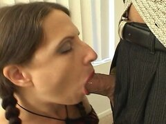 Horny chicks cant resist blowing cock