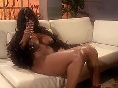 Foxy Ebony Babe Jada Fire Fingers Her Pussy and Caresses Her Knockers