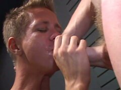 Gay twink sucks cock for the cum