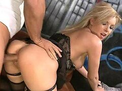 Cowgirl and Doggy Style Banging For Blonde Beauty Donna Bell