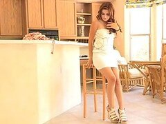 Laleh tries on her new dresses and fingers her pussy