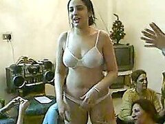 A bunch of crazy Arabian teens film their party where they get drunk and strip