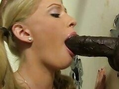 Allie James fucked and facialed by a black cock