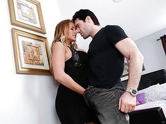 Alanah and Charles are having a hot affair and she will use any excuse to get him alone upstairs. These two horny adulterers waste no time getting down to business.