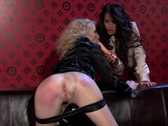 Anal toy sex among lusty lesbians