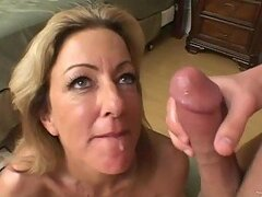 Blonde MILF Pops Out Her Big Boobs...