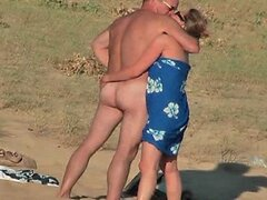 Hidden vid of hot French couple on beach part 7