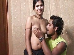 First sex on camera for cute indian and her hubby