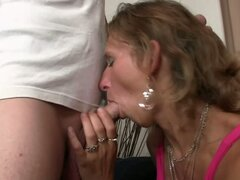 Mature mom blows...