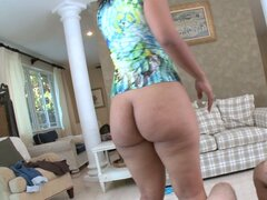POV video of chubby sluts  Cherry Lane and Monica pleasing fat cocks