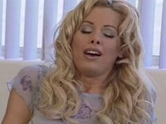 BLONDE DAMSEL IN DISTRESS GETS FUCKED ON THE SOFA