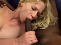 Skinny white girl loves those big black cocks