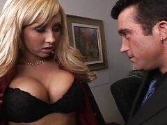 Horny top manager fucking his busty blonde boss