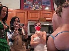Costumed Amateur Sluts Going Wild In Halloween Party