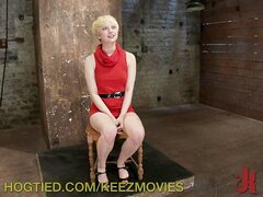 Captive Blonde Gets Punished