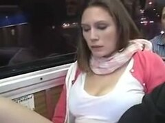 Ruca taking a bus