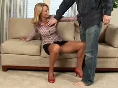 Sexy milf gets horny with her toys