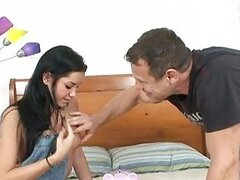 Deepthroating darling Tanner Mayes slips this stick past her gag reflex
